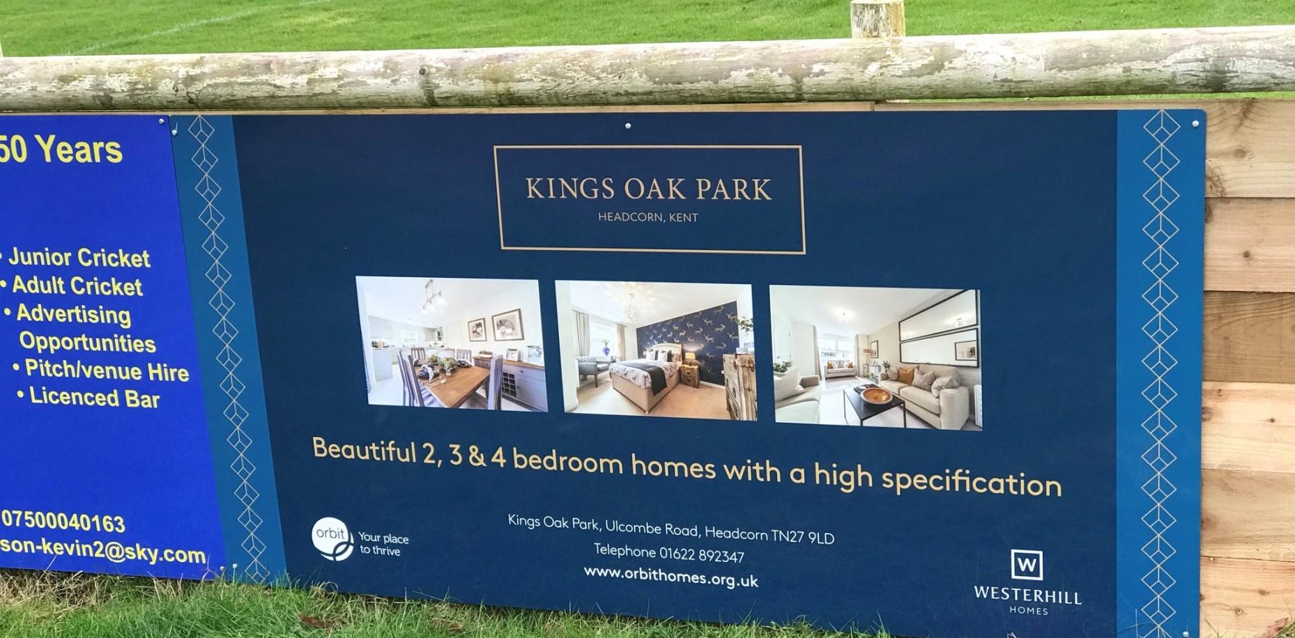 Kings Oak Park, Headcorn supports the local village football club