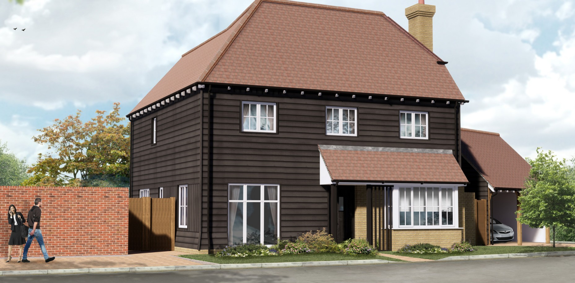 Final homes available at Evabourne, Wouldham. Kent