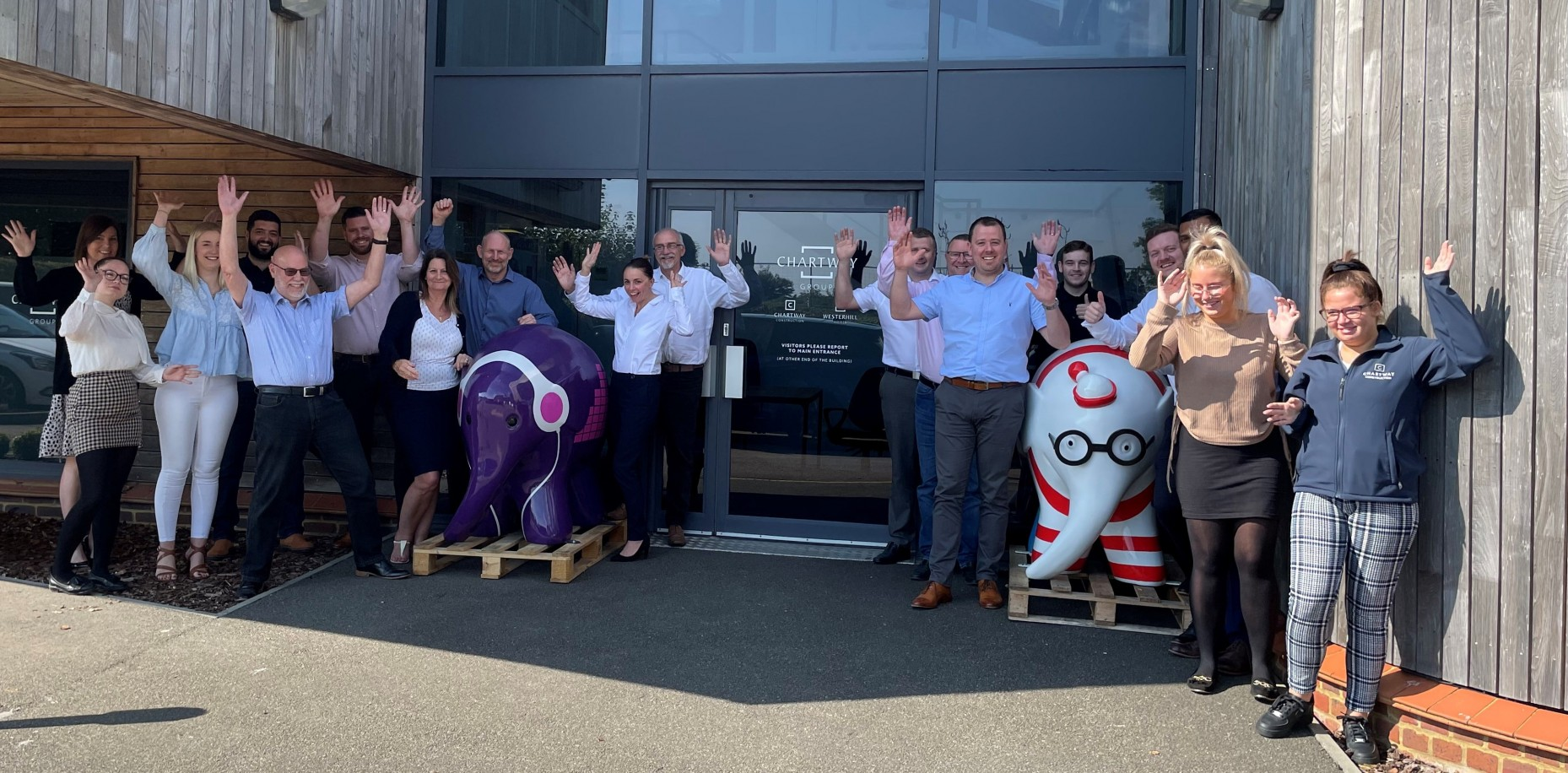 Our team were super excited to welcome our Elmer's to their new home at our Head Office